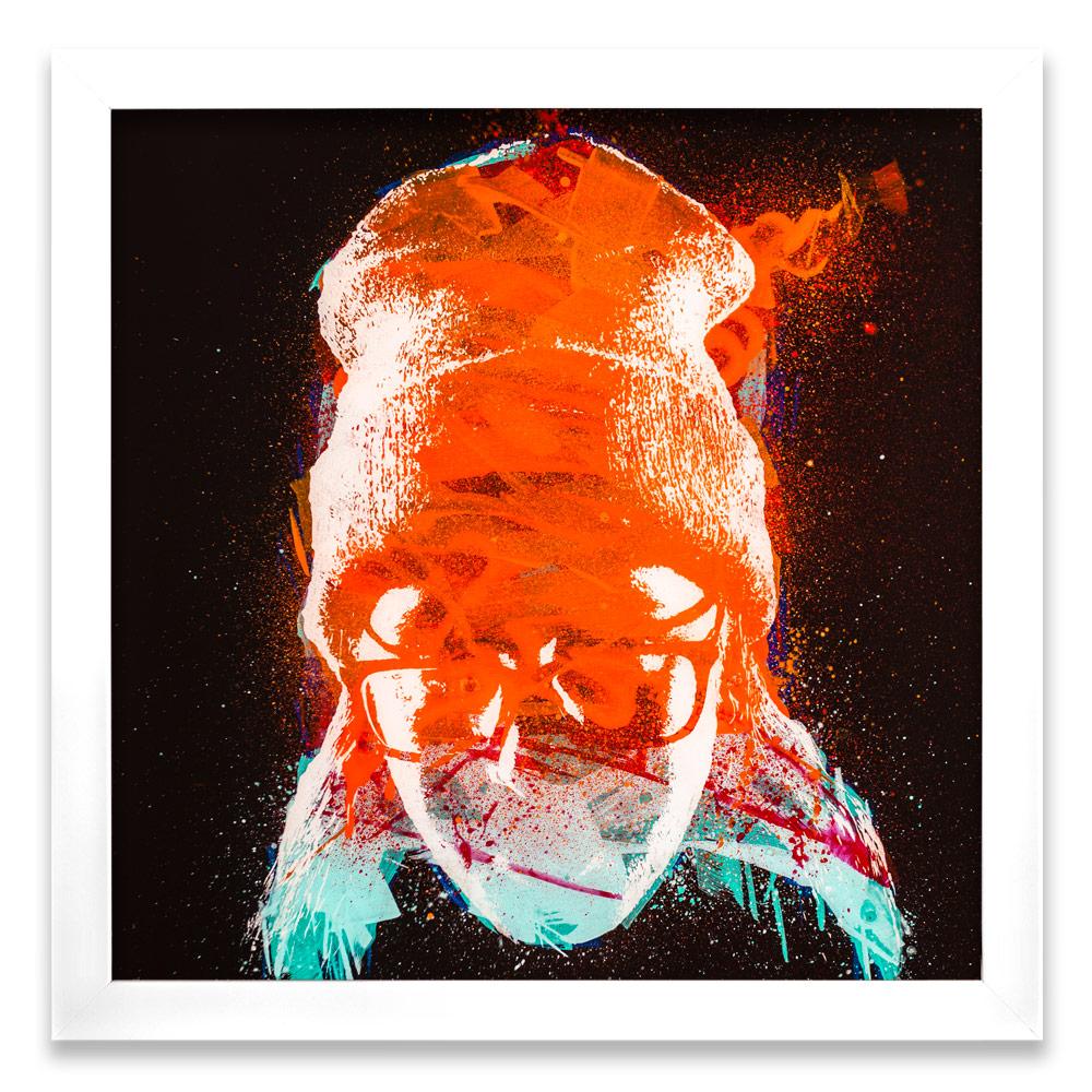 """Taran Entropy α  Enamel, Acrylic and Spray Paint on Plexiglass 26"""" x 26"""" $500"""