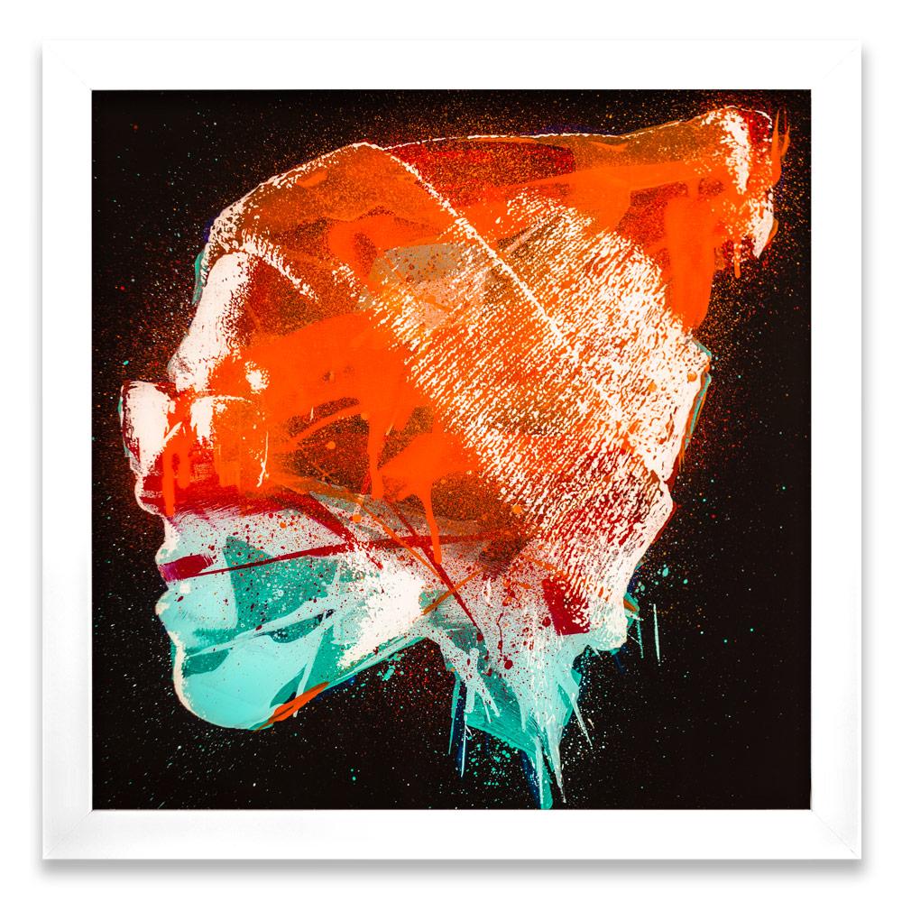 """Taran Entropy β  Enamel, Acrylic and Spray Paint on Plexiglass 26"""" x 26"""" $500  SOLD"""