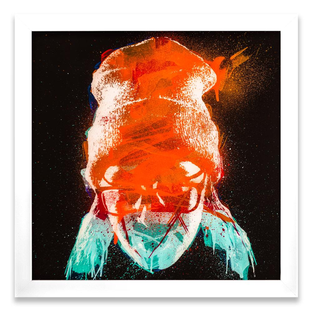 "Taran Entropy γ  Enamel, Acrylic and Spray Paint on Plexiglass 26"" x 26"" $500"