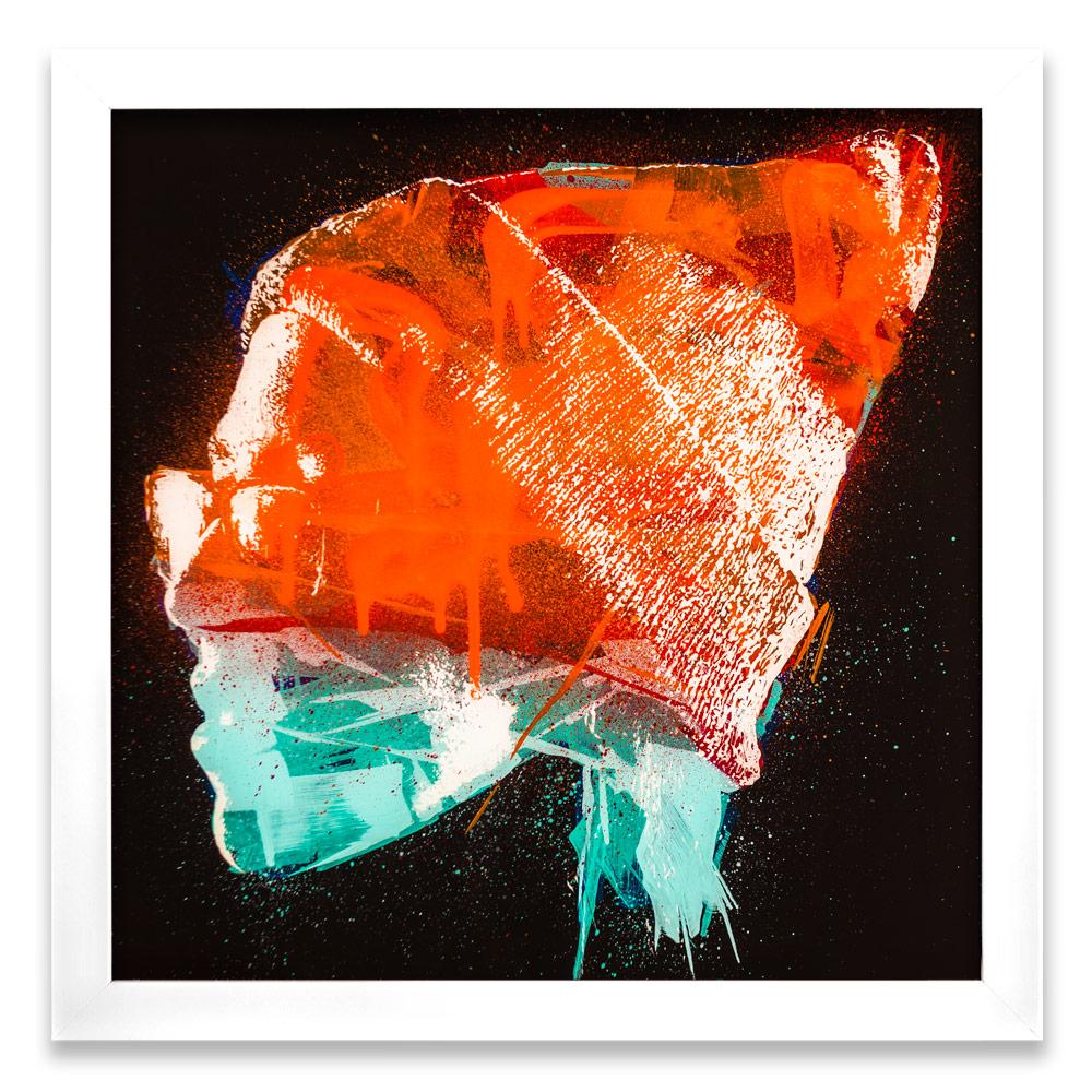"""Taran Entropy δ  Enamel, Acrylic and Spray Paint on Plexiglass 26"""" x 26"""" $500"""