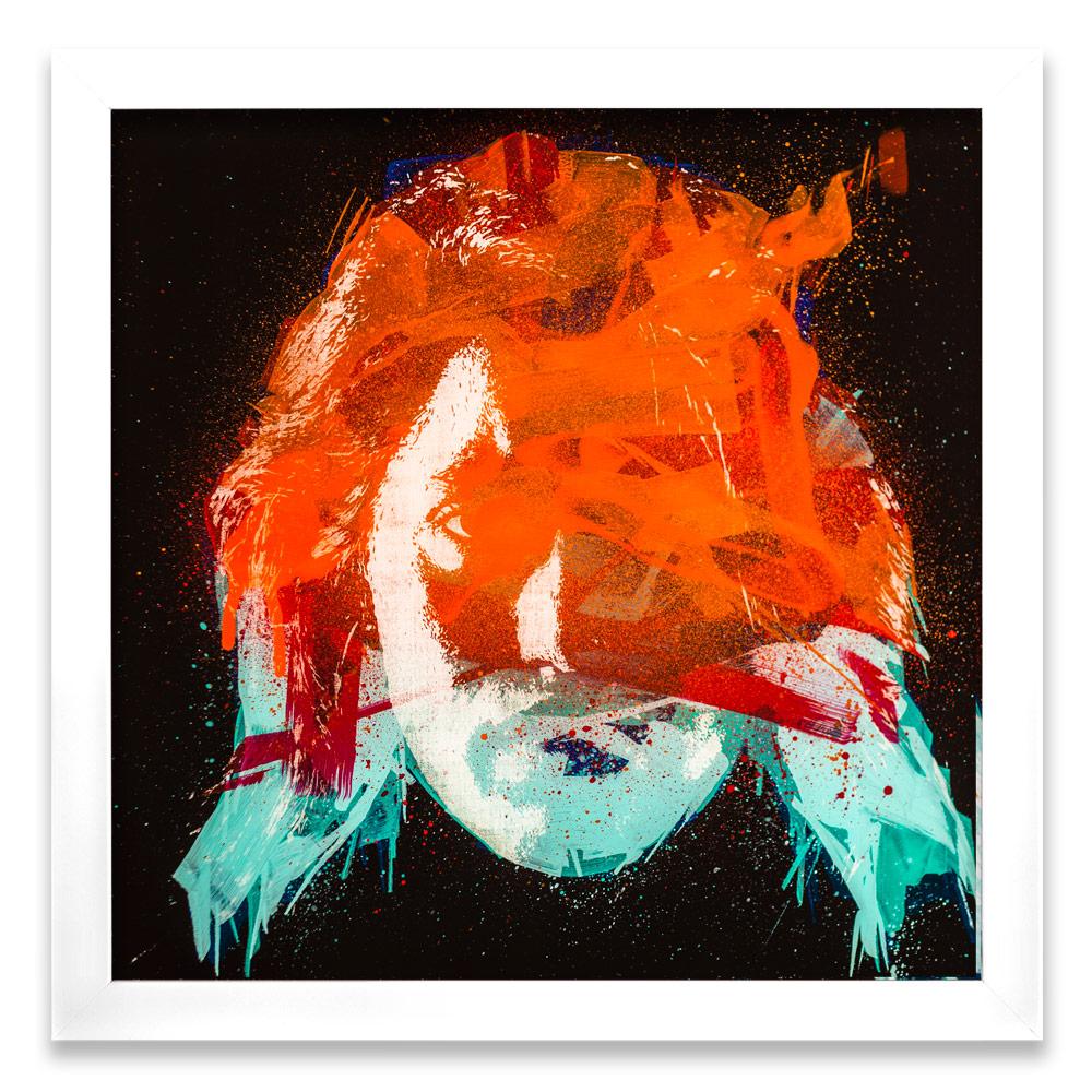 "Geneva Entropy α  Enamel, Acrylic and Spray Paint on Plexiglass 26"" x 26"" $500  SOLD"