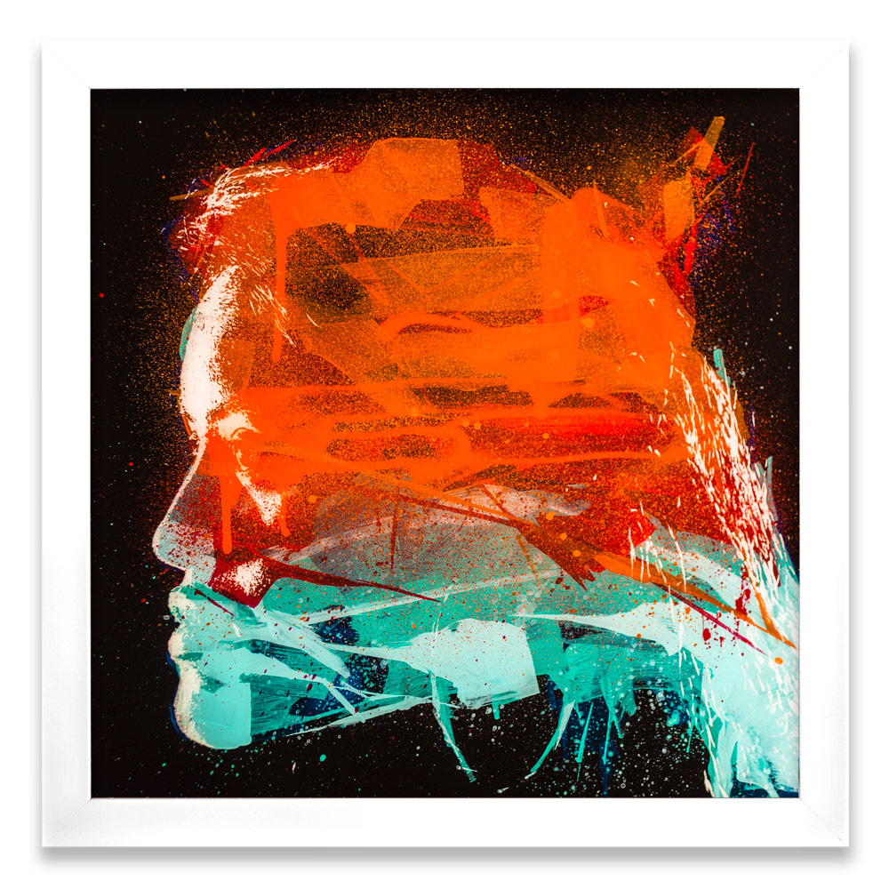 "Geneva Entropy β  Enamel, Acrylic and Spray Paint on Plexiglass 26"" x 26"" $500  SOLD"