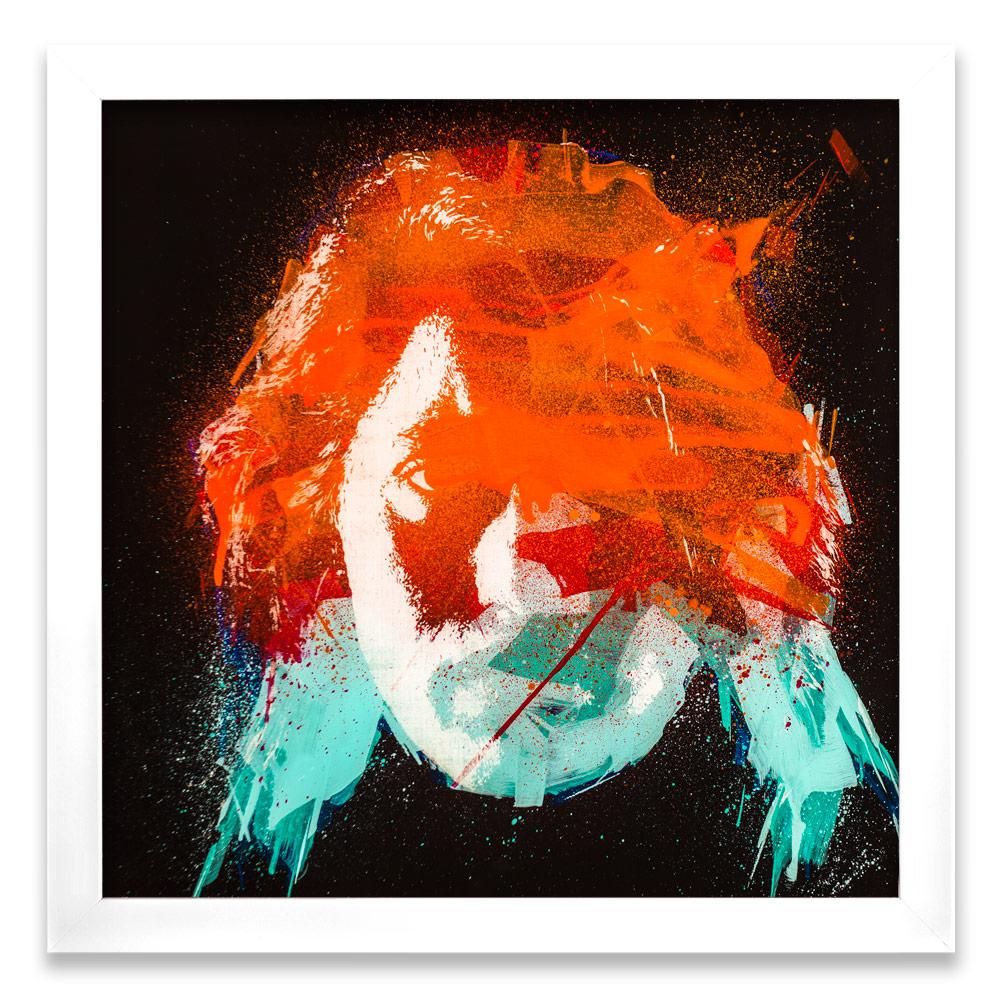 "Geneva Entropy γ  Enamel, Acrylic and Spray Paint on Plexiglass 26"" x 26"" $500"