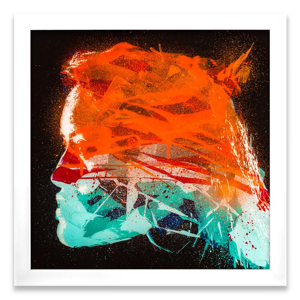 "Geneva Entropy δ  Enamel, Acrylic and Spray Paint on Plexiglass 26"" x 26"" $500  SOLD"