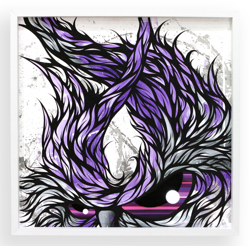 """The Guardian  Spray Paint & Acrylic on Cradled Wood Panel 25"""" x 25"""" $450  SOLD"""