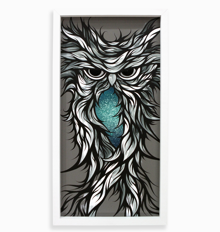 "G Minor  Spray Paint & Acrylic on Cradled Wood Panel 13"" x 25"" $300  SOLD"