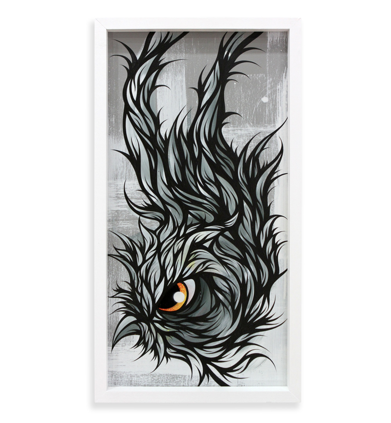 "Tropicana  Spray Paint & Acrylic on Cradled Wood Panel 13"" x 25"" $300  SOLD"