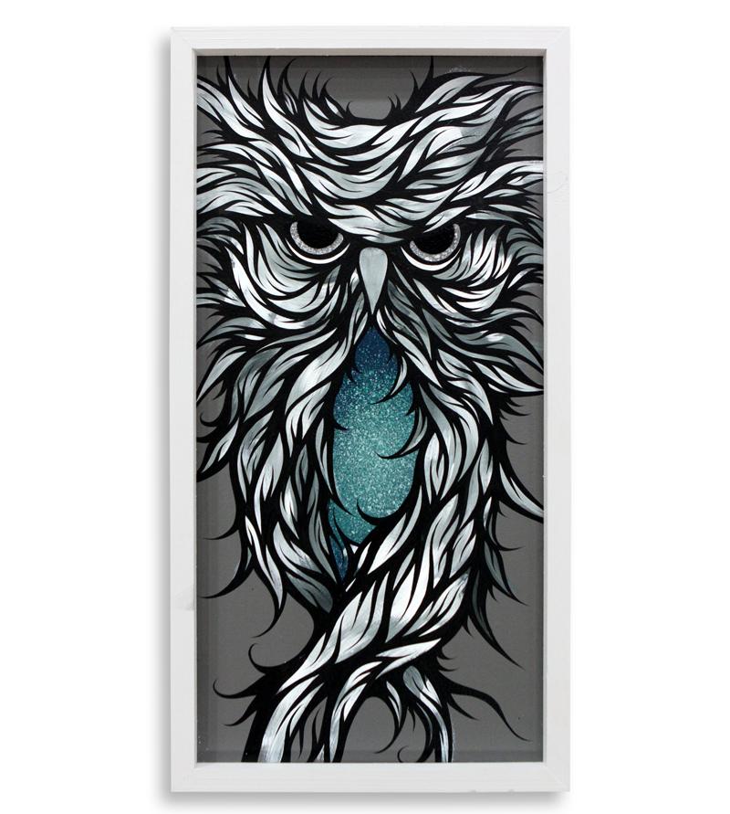 "G Major  Spray Paint & Acrylic on Cradled Wood Panel 13"" x 25"" $300  SOLD"