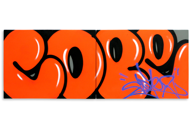 """Detroit Series 3  Aerosol on Wood 48"""" x 18"""" (Diptych) $1,000 Also Available on  1xRUN"""