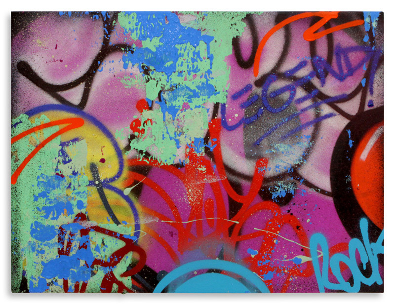 """Rock Legend  Aerosol on Wood 24"""" x 18"""" $750 Also Available on  1xRUN"""