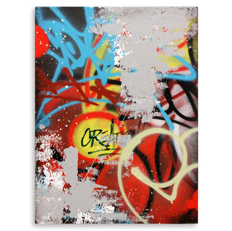 "Creation  Aerosol on Wood 18"" x 24"" $750  SOLD"