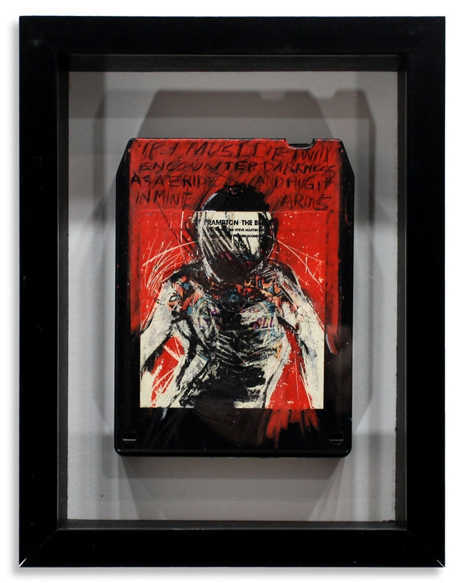 "Peter Frampton/Bee Gee's 'Sgt. Peppers Lonely Heart Clubs Band' Mixed Media on 8-Track 7"" x 9"" Framed in Shadowbox SOLD"