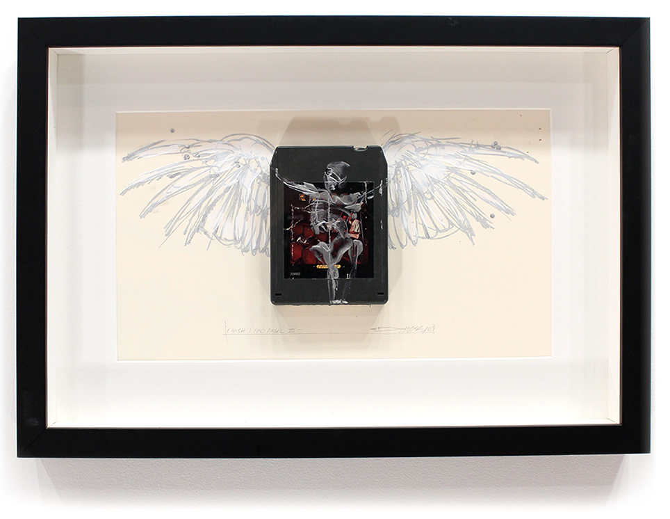 "I wish I had an Angel III - Kansas 'Two for the Show'  8-Track, Archival Paper Framed in Shadow Box 22"" x 14.5"" Framed in Shadowbox  SOLD"