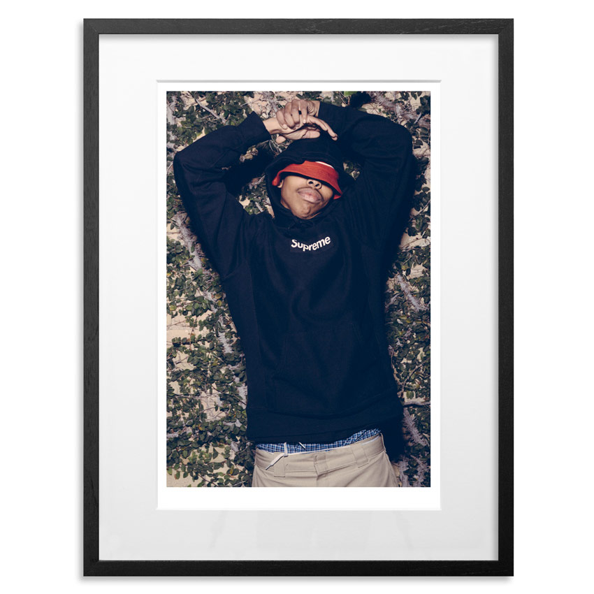 """Earl Sweatshirt - Supreme   Archival Pigment Print on 300gsm Museum Grade 100% Cotton Rag   24"""" x 18"""" - Edition 21 -   Purchase    66"""" x 44"""" - Edition 10 -   Purchase"""