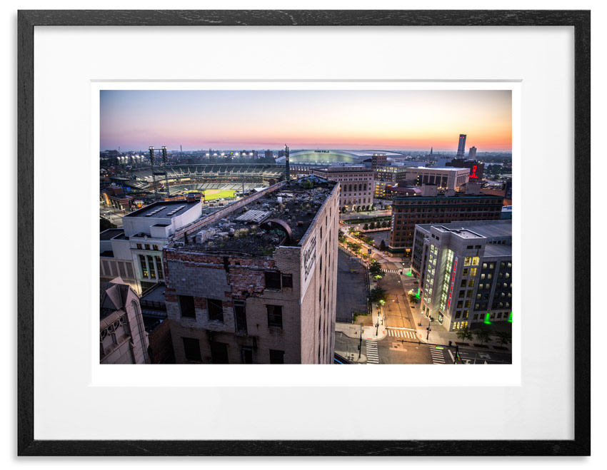 """Detroit 5:46 AM   Archival Pigment Print on 300gsm Museum Grade 100% Cotton Rag   24"""" x 18"""" - Edition 21 -   Purchase    66"""" x 44"""" - Edition 10 -   Purchase"""