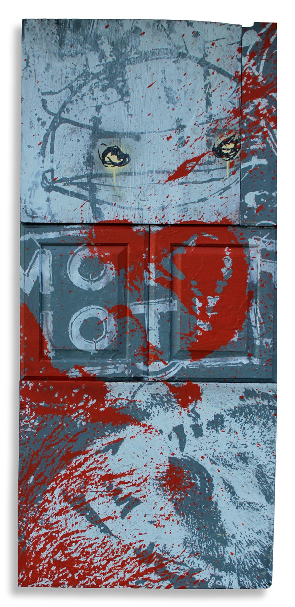 Motor Hotel  24 x 62 Inches Mixed Media on Wood Panel  $2,500