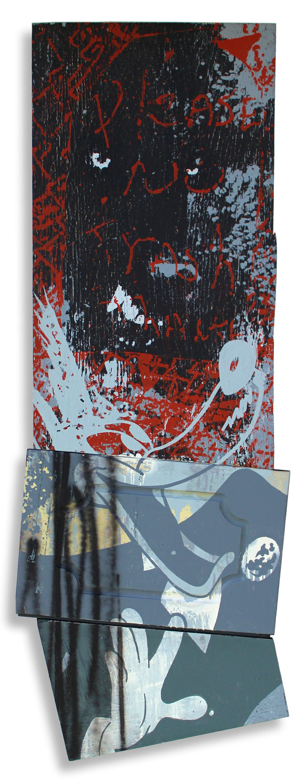 Wolf Like Me  20 x 62 Inches Mixed Media on Wood Panel $2,000