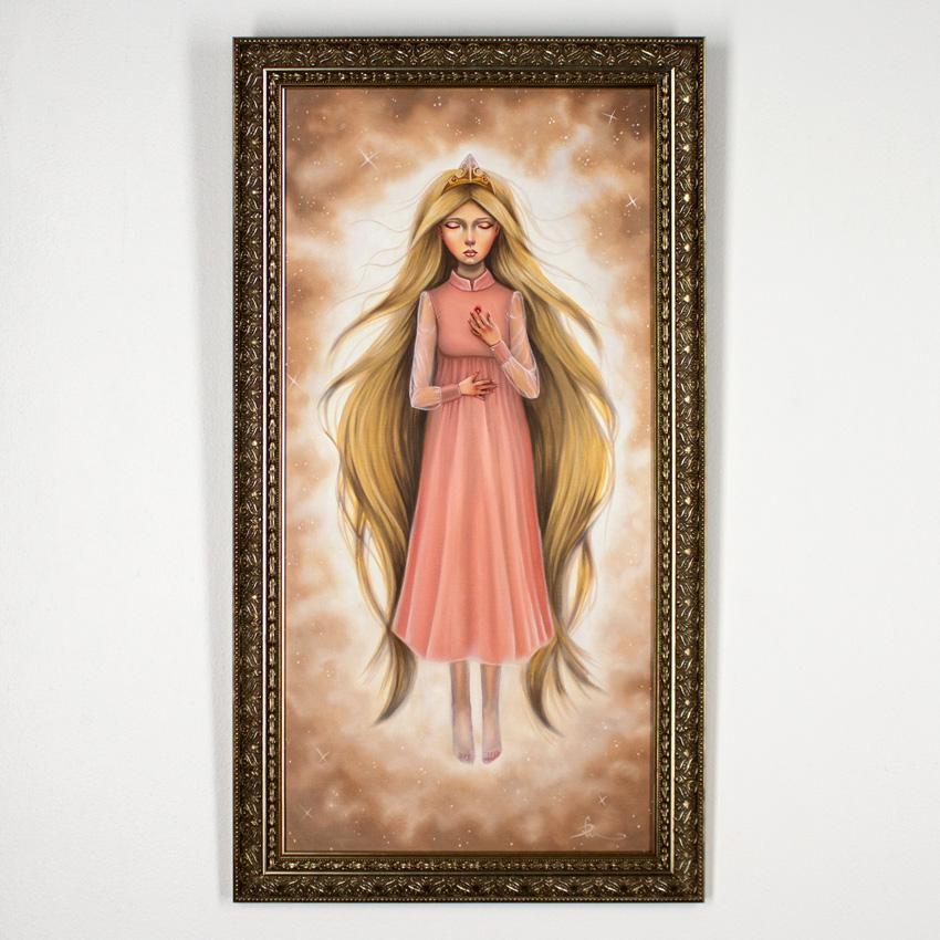 "Audrey Pongracz     A Hundred Years     10"" x 20""    Framed    Oil on Linen     $800"