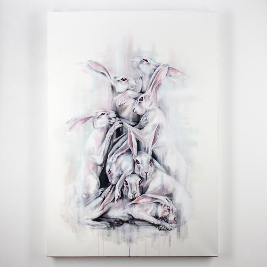 """I Met Lucy     Cyclus II     31.5"""" x 40""""    Acrylic on Canvas     $1,250"""