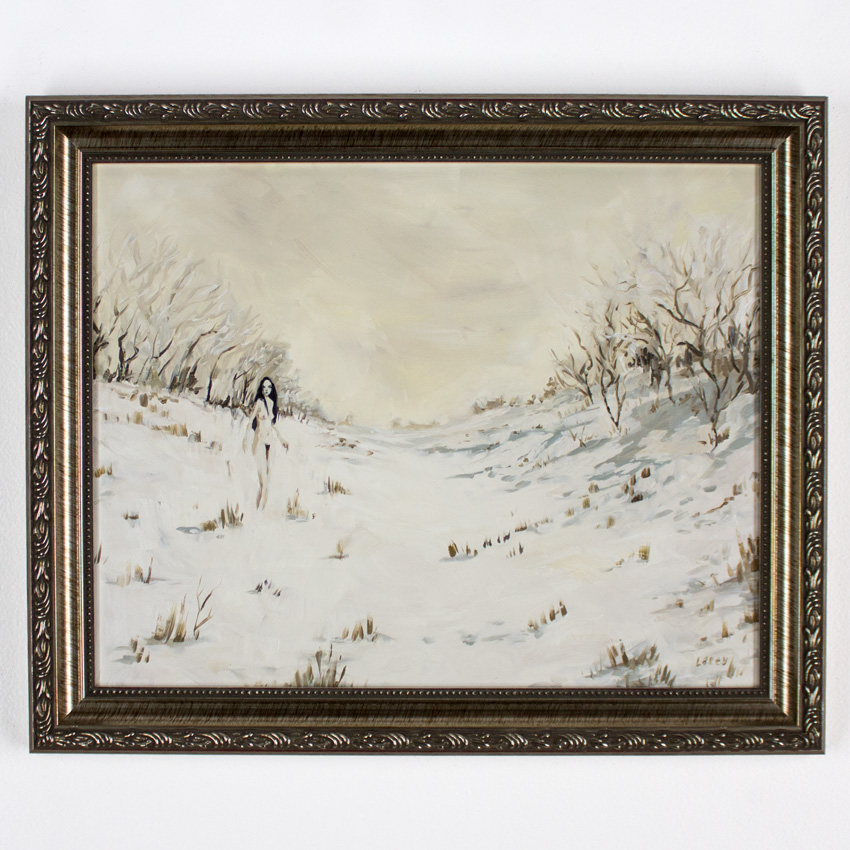"Lacey Bryant     Yuki-onna     11"" x 14""   Oil on Framed Wood Panel   16.5"" x 13"".5 x 1"" Framed     $425"