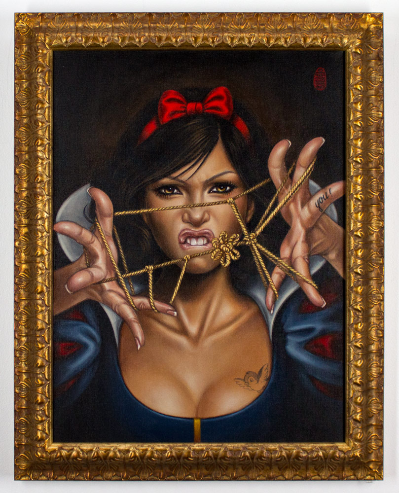 """Mimi Yoon     Once Upon A Time No More     18"""" x 24""""   Acrylic on Linen   22.5x28.5 Framed      SOLD"""