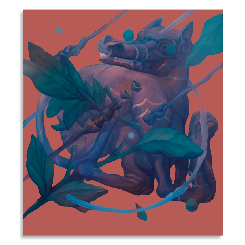 Smithe   Chulel  Acrylic on canvas90 x 80 cm // 35 x 31.5 Inches  $3,000