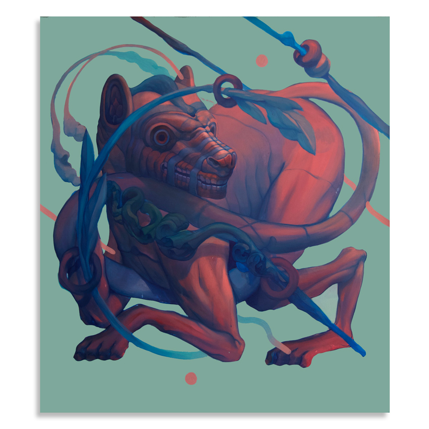 Smithe    Pardalis   Acrylic on canvas90 x 80 cm //  35 x 31.5 Inches   $3,000