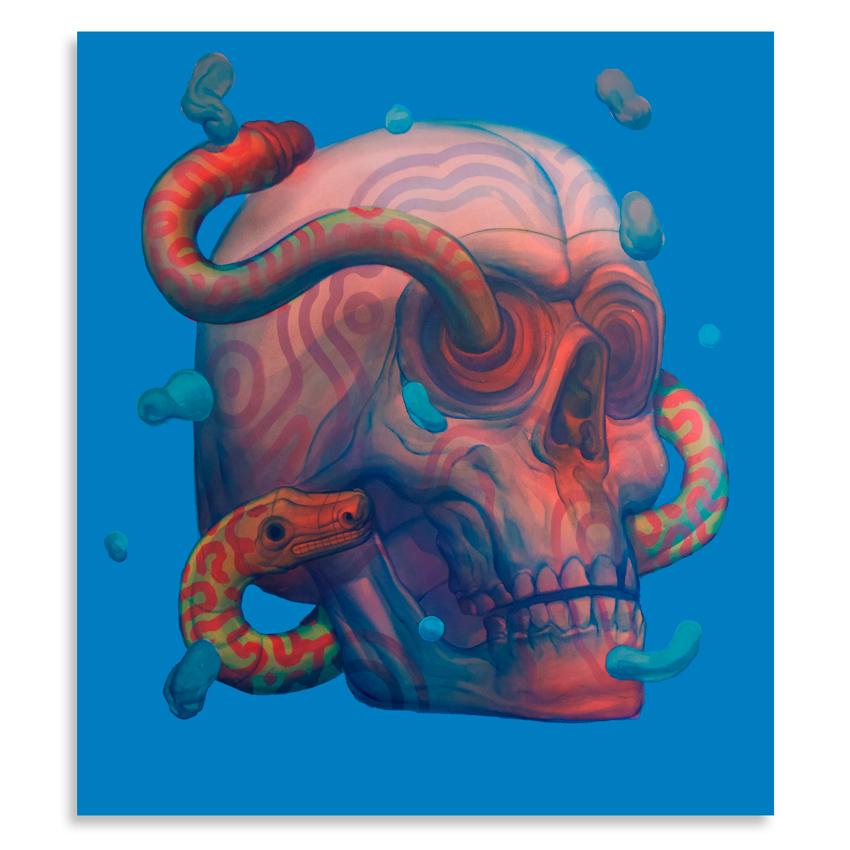 Smithe    Tseek   Acrylic on canvas90 x 80 cm //  35 x 31.5 Inches   $3,000
