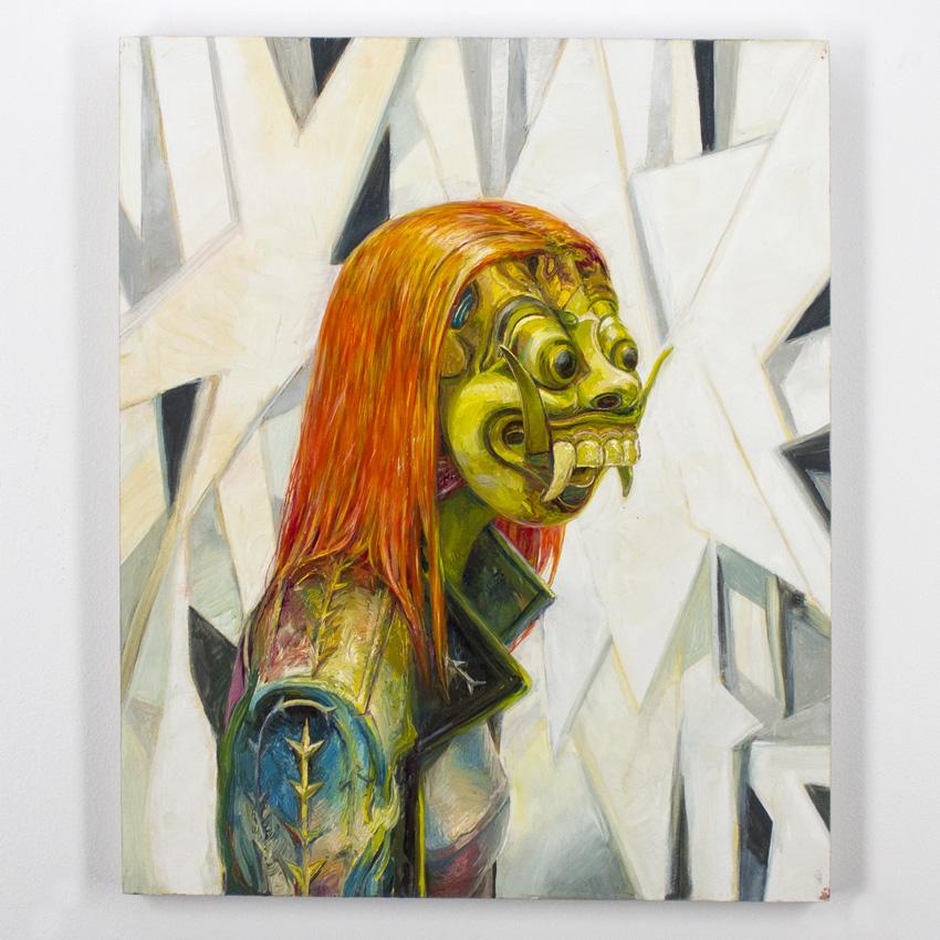 Apolo Cacho    Girl   Oil on panel  56 x 46 cm // 22 x 18 Inches   $1,000