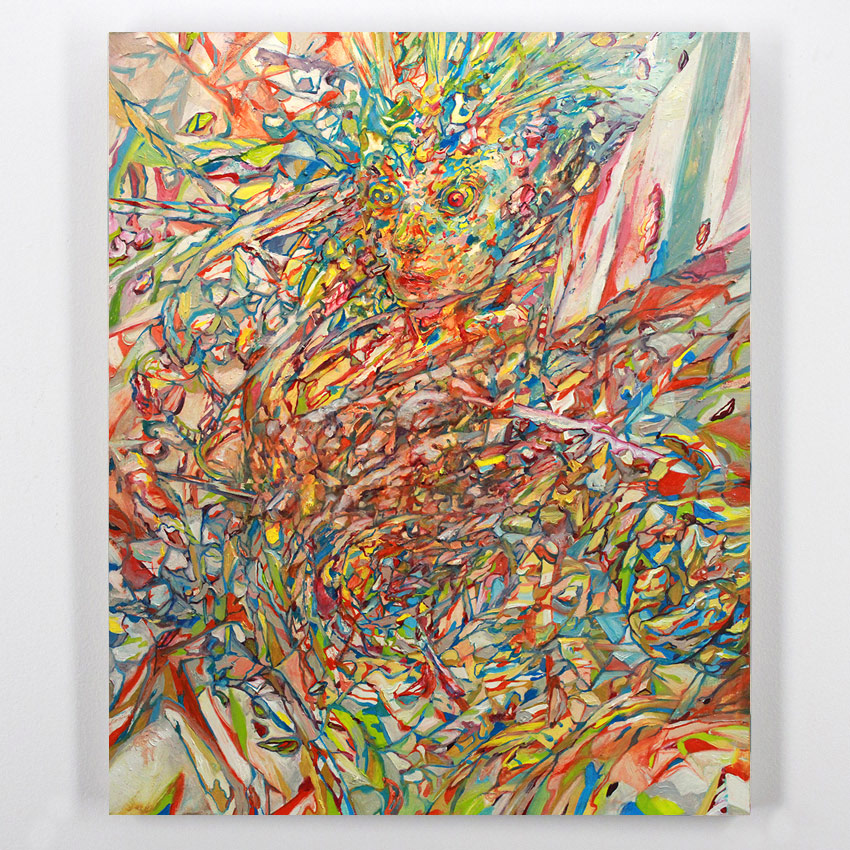 Apolo Cacho    Robot Girl  Oil on panel56 x 46 cm // 22 x 18 Inches $1,000