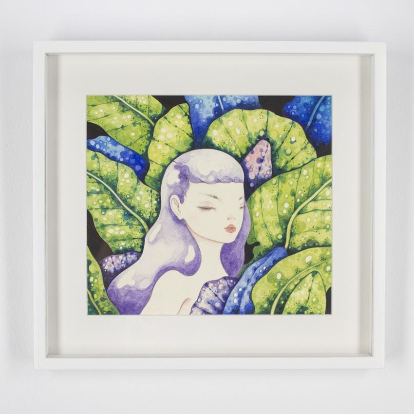 Violeta Hernández    Jungla común II  Watercolor and pencilon cotton paper 42 x 40 cm // 16 x 15.5 inches $600