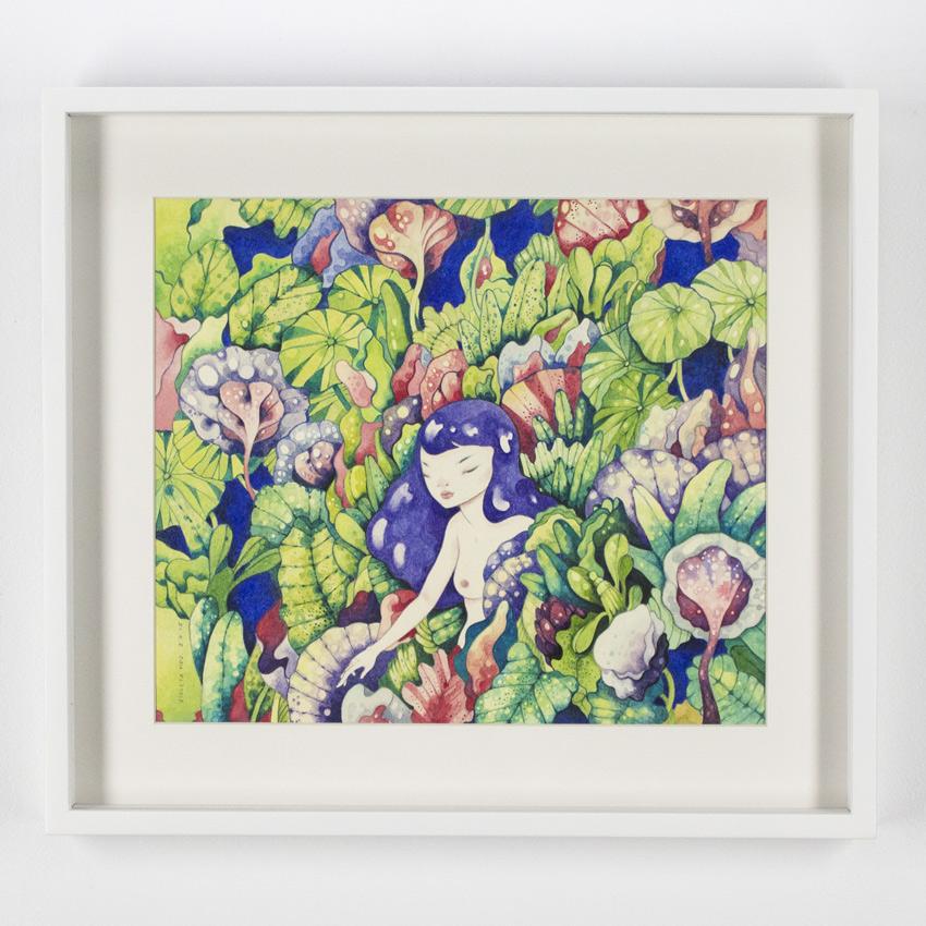 Violeta Hernández    Jungla común  Watercolor and pencilon cotton paper 48 x 44 cm // 19 x 17.5 inches $825