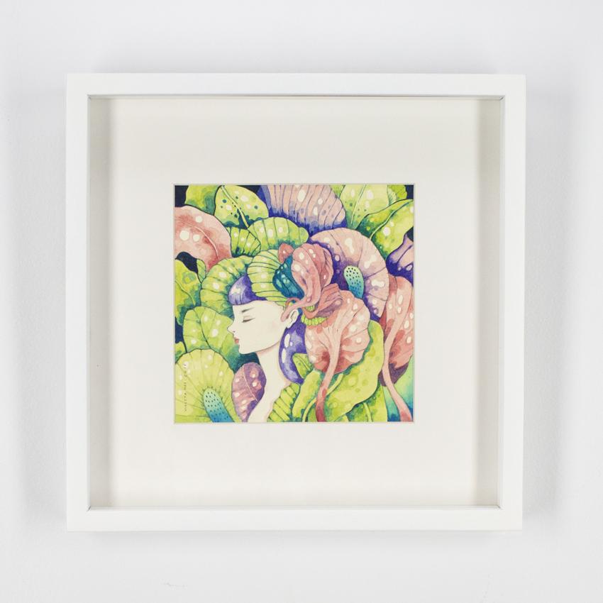 Violeta Hernández    Jungla común III  Watercolor and pencilon cotton paper 30 x 30 cm // 12 x 12 inches $550