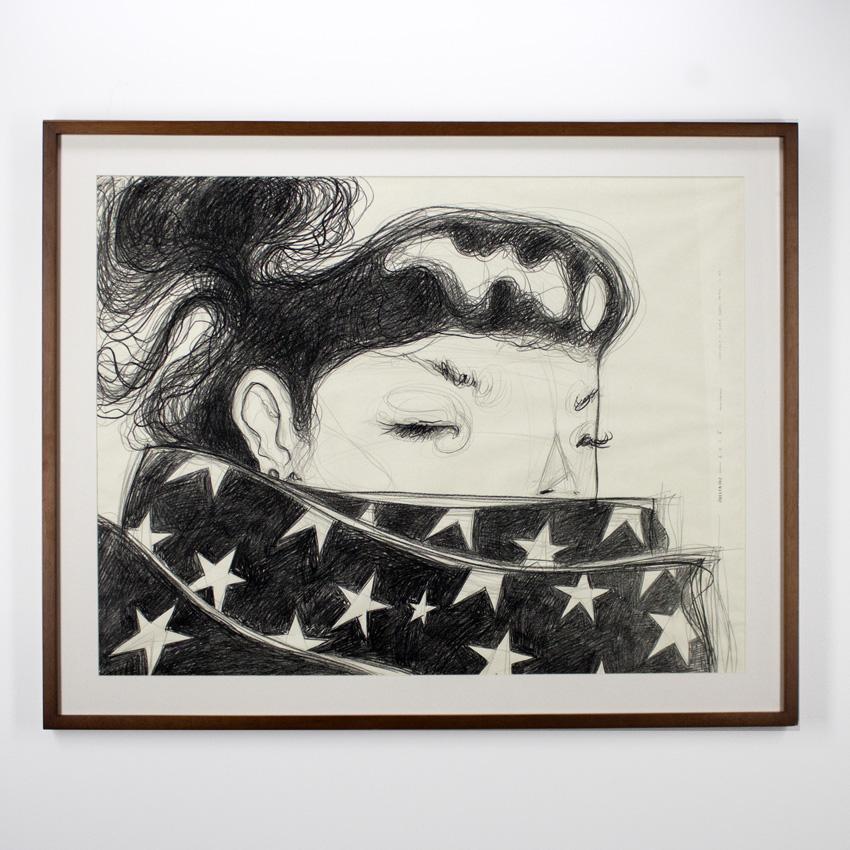 Violeta Hernández    Estudio 01  Pencil on paper 121 x 81 cm // 48.5 x 32.5 inches $1100