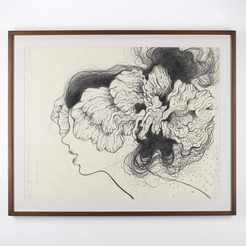 Violeta Hernández    Estudio 02   Pencil on paper 121 x 81 cm // 48.5 x 32.5 inches   $1100