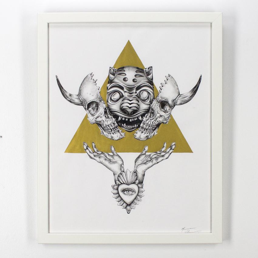 Mariana    Villanueva   El triunfo de la vida   Graphiteand ink on cotton paper 53.5 x 42  cm // 21 x 16.5 inches   $775