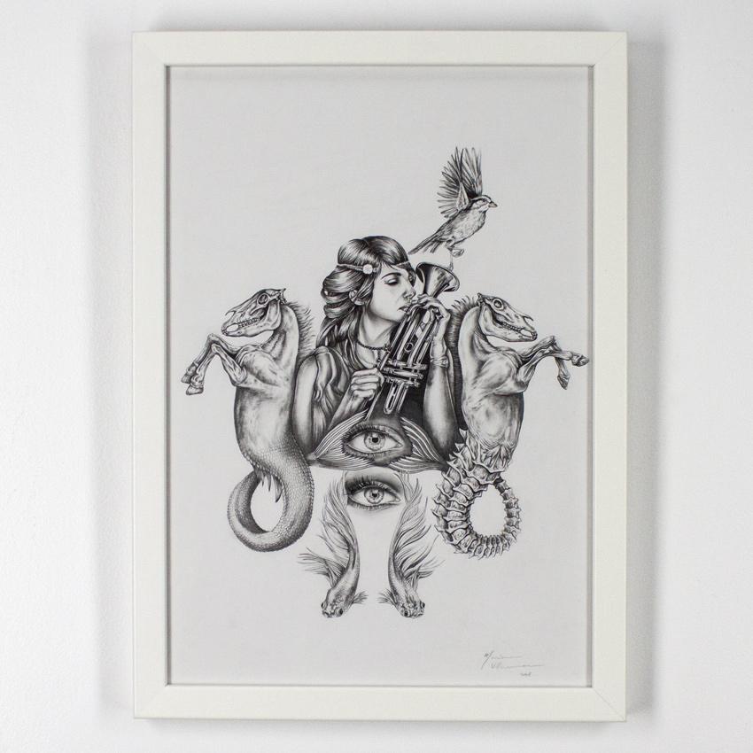 Mariana    Villanueva   Señora Kong   Graphite oncotton paper 59x 42  cm// 23 x 16.5 inches   $575