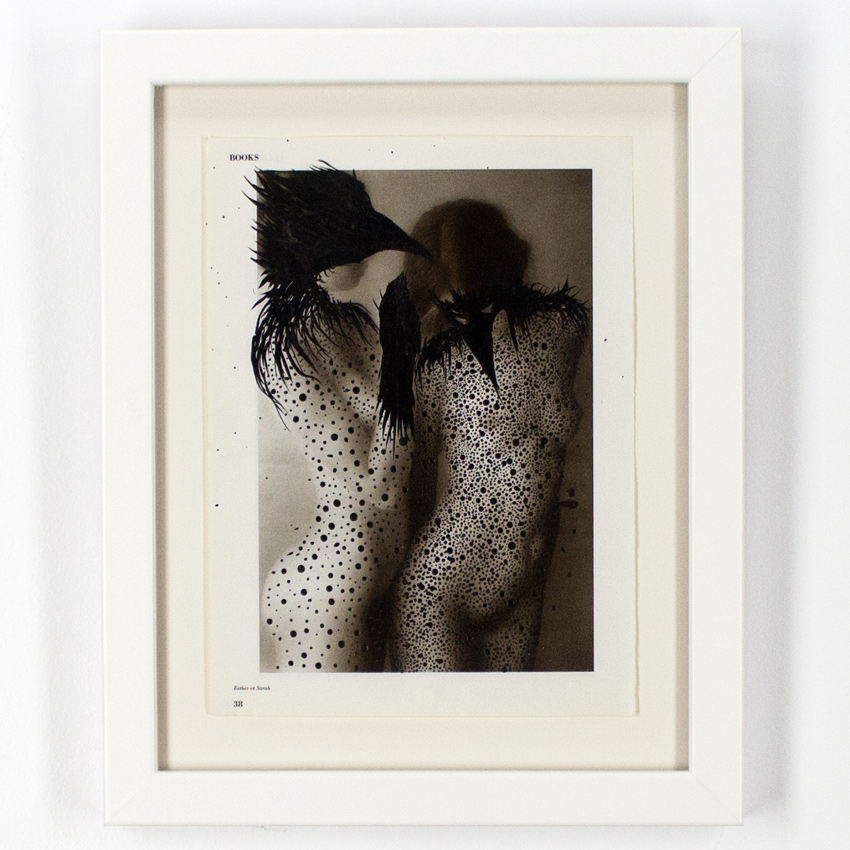 Ciler    Pájaras lésbicas  Ink on vintage photo27.5 x 20 cm // 10.5 x 8 inches $1,100