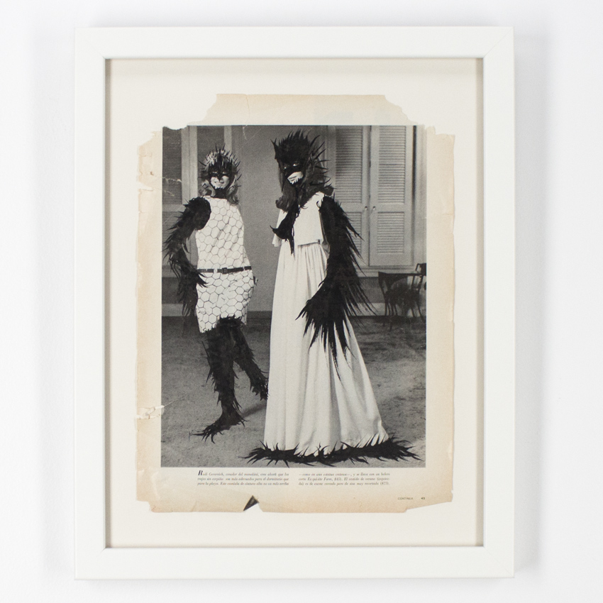 Ciler    Untitled - 5   Ink on vintage photo  34.5 x 26.5cm // 13.5 x 10.5 inches   $1,000