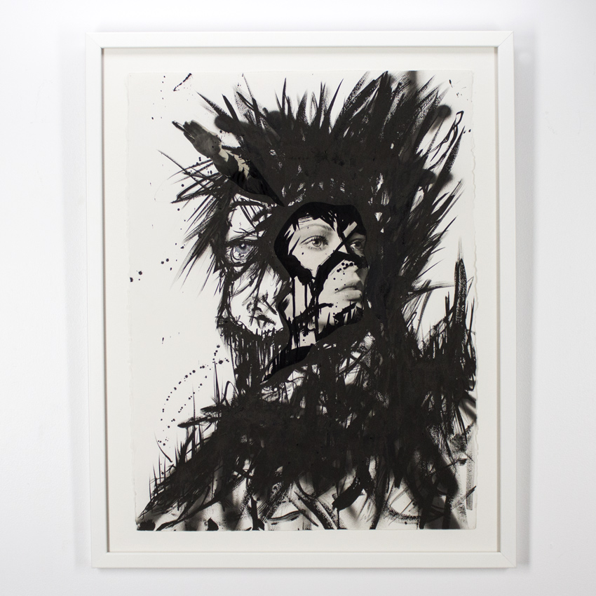 Ciler   Pesadilla  Collage and ink on cotton paper76 x 56 cm // 30 x 22 inches $1,800