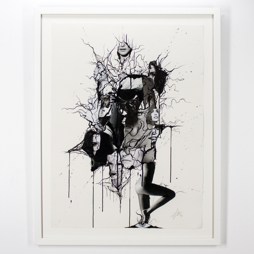 Ciler    Sueño   Collage and ink on cotton paper  76 x 56 cm // 30 x 22 inches   $1,800