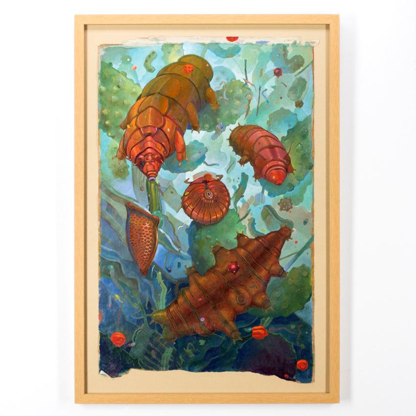Jesús Benítez   Tardigrades  Oil on paper70.5 x 50 cm // 28 x 16.5 inches $1,600