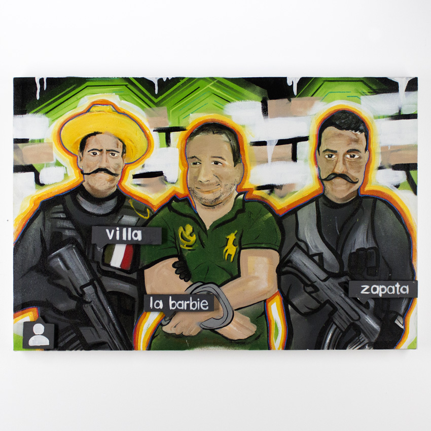 Freddy Diaz    Una Pal Ig   Acrylic and Aerosol on Canvas 60 x 91 cm //24x 36 inches   $500