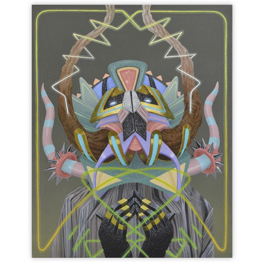 Curiot Burning Skies v.3 16 x2o Acrylic on linen $1,500