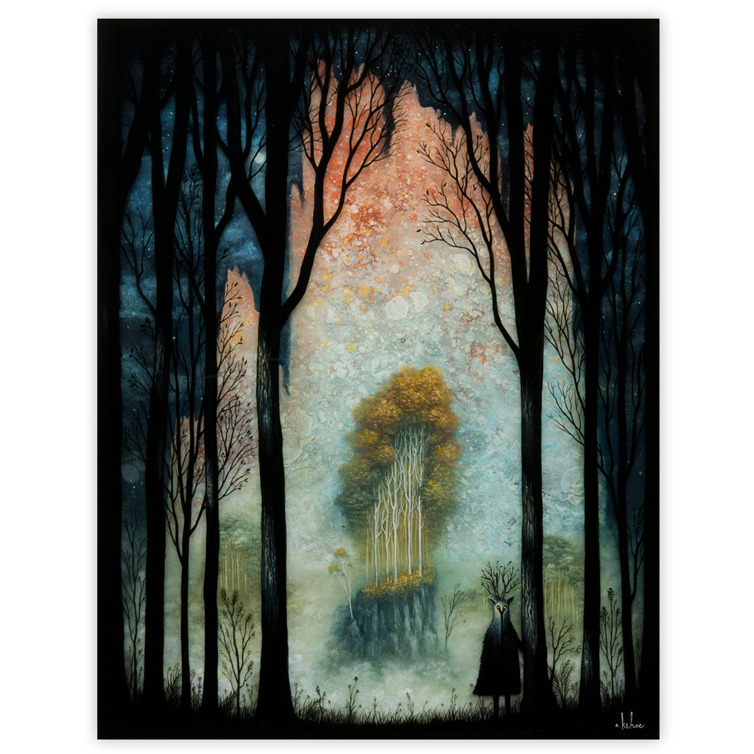 Andy Kehoe Eternal Glos of the Celestial Peaks 16 x 20 Inches Acrylic, oil and resin in cradled wood panel $3,400