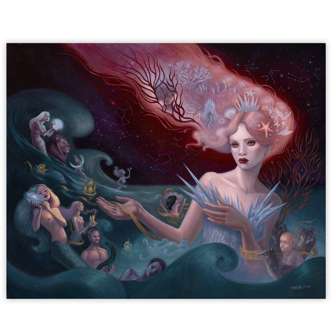 Mia Araujo Hymn To The Sea 16 x 20 Inches Acrylic on wood panel $2,400