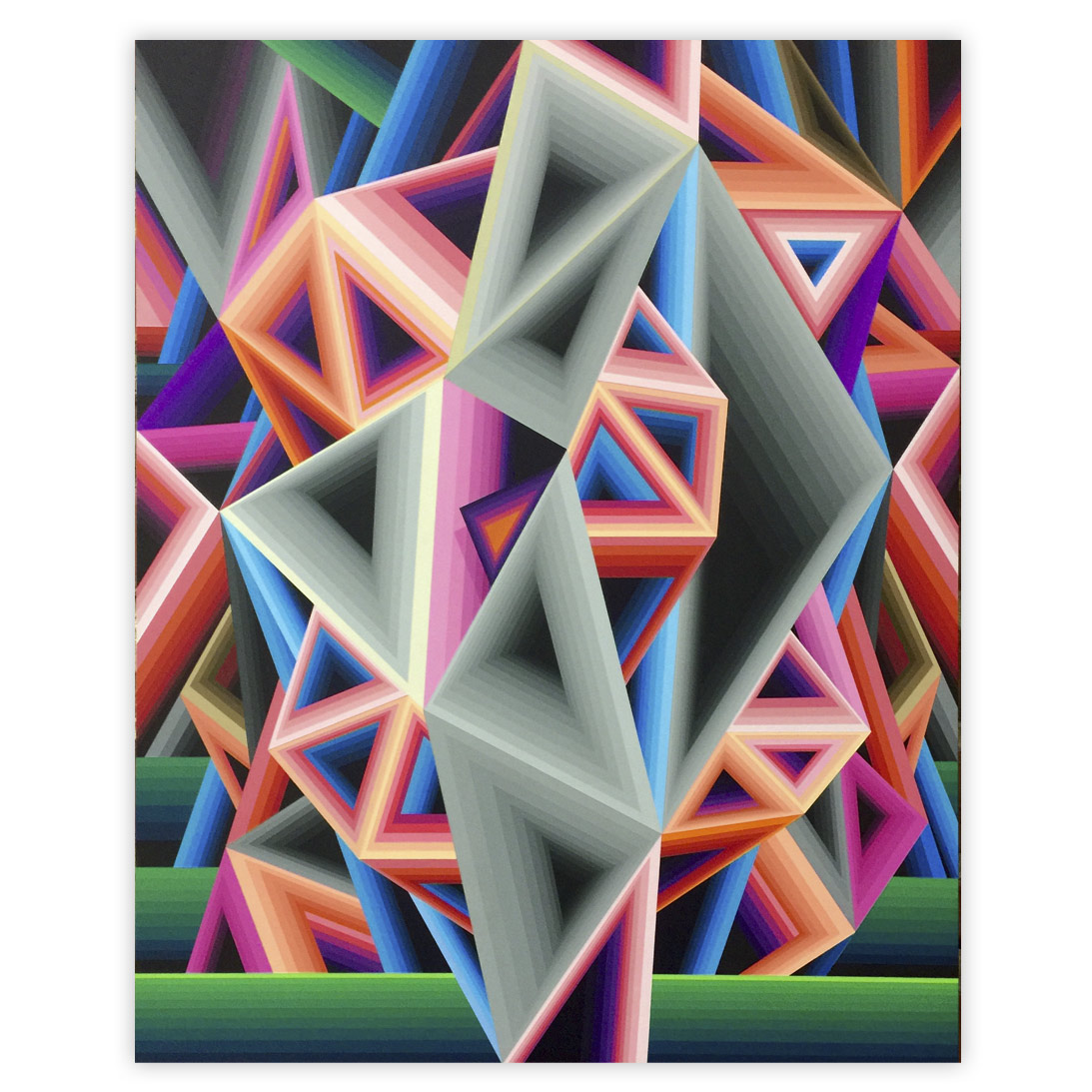 James Marshall (Dalek) Untitled 16 x 20 Inches Acrylic on wood $4,500