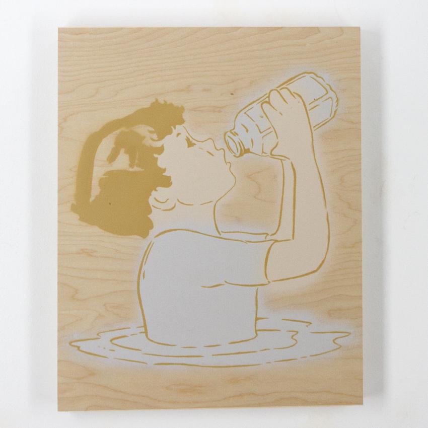 Amanda Marie Milkboy 16 x 20 Inches Spray paint on wood panel $750