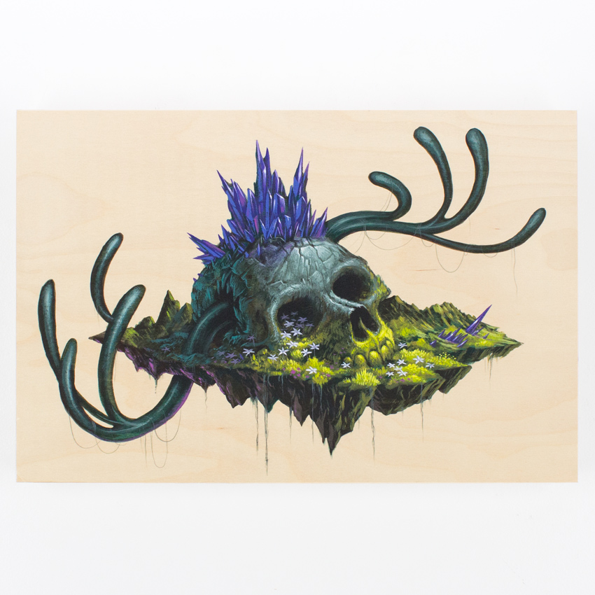 13. Jeff Soto Harry 10x10 acrylic on wood panel $1,200 -  Inquire  - Purchase directly on 1xRUN
