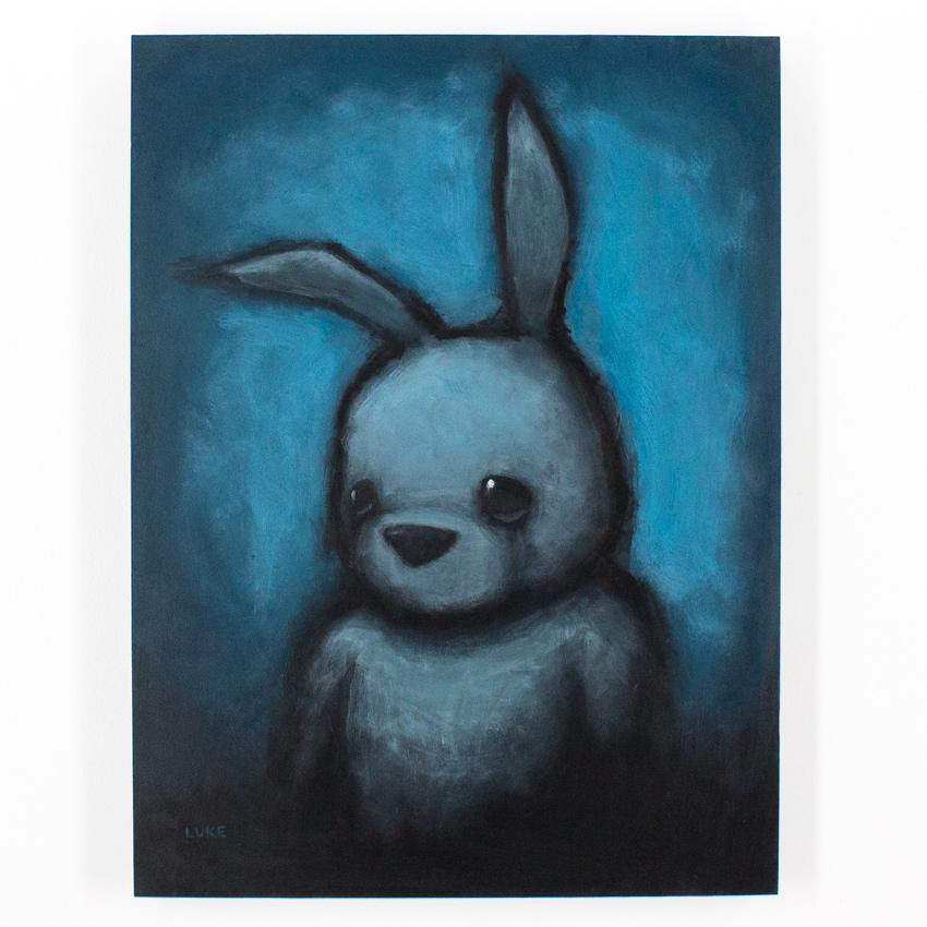 16. Luke Chueh Blue Bunny 18x24x1.5 Acrylic on Panel $6,500 -  Inquire  - Purchase directly on 1xRUN